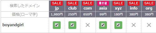 お名前.comの検索例